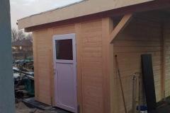 Gartenhaus mit Überdachung