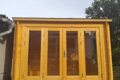 Gartenhaus aus Holz mit Flachdach I