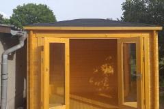 Gartenhaus aus Holz mit Flachdach II