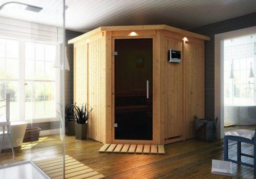 Innen-Sauna aus Holz